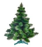 查出的圣诞树 免版税库存图片