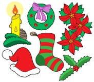 查出的圣诞节图象 免版税库存照片