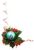 查出的圣诞节框架 库存图片