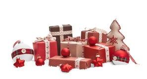 查出的圣诞节装饰 库存图片