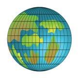 查出的地球图象 免版税库存图片