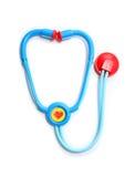 查出的塑料听诊器玩具 免版税库存照片