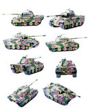 查出的塑料坦克 免版税图库摄影