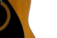 查出的声学吉他 免版税库存照片
