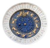 查出的天文学时钟指示st 免版税库存照片
