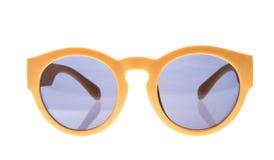 查出的太阳镜空白黄色 免版税库存照片