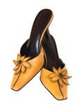 查出的夫人鞋子棕褐色 库存图片