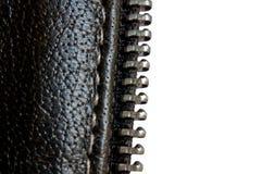 查出的夹克皮革空白邮政编码 图库摄影