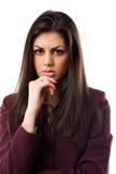 查出的女实业家讲西班牙语的美国人 免版税库存照片