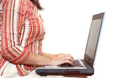 查出的妇女工作 免版税库存图片