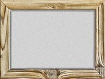 查出的对象 木制框架有在白色隔绝的黑背景、黑板或者校务委员会 复制您的文本的空间 自由 免版税库存图片