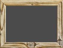 查出的对象 木制框架有在白色隔绝的黑背景、黑板或者校务委员会 复制您的文本的空间 自由 免版税库存照片