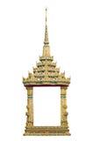 查出的寺庙视窗 免版税库存图片