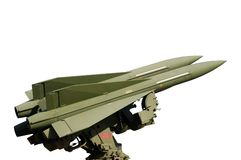 查出的导弹白色 免版税库存照片