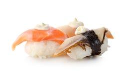查出的寿司unagi 免版税库存照片