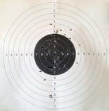 查出的射击的目标白色 库存图片
