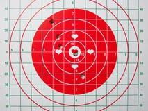 查出的射击的目标白色 免版税库存照片