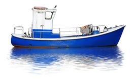 查出的小船 免版税库存图片