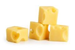 查出的干酪部分 免版税图库摄影