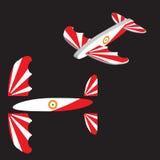 查出的平面玩具白色 飞机传染媒介例证 库存例证