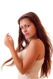 查出的性感的妇女年轻人 免版税库存照片