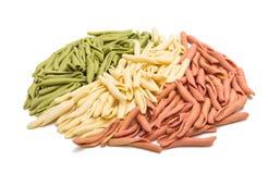 查出的意大利意大利面食 免版税库存照片