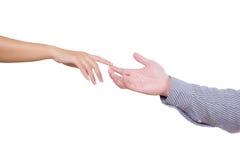 查出的手指供以人员感人的妇女 图库摄影