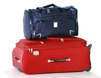 查出的手提箱旅行白色 免版税库存图片