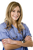 查出的护士白色 免版税图库摄影