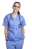 查出的护士 免版税库存图片