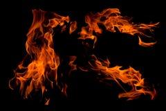 查出的抽象火火焰 免版税库存图片