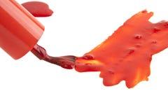 查出的指甲油红色白色 库存照片