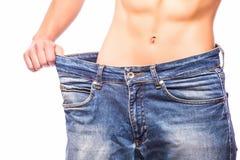查出的损失评定躯干重量白人妇女 库存照片