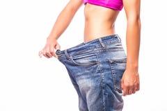 查出的损失评定躯干重量白人妇女 库存图片