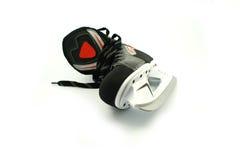 查出的新的冰鞋白色 免版税库存照片