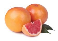 查出的新鲜的葡萄柚 免版税库存图片