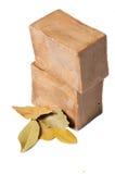 查出的月桂树留下肥皂 免版税图库摄影