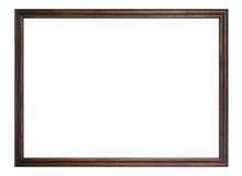 查出的木制框架 免版税库存照片