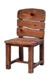 查出的木椅子 免版税库存图片