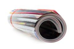 查出的杂志卷白色 免版税库存图片