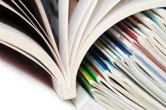 查出的杂志白色 免版税库存图片