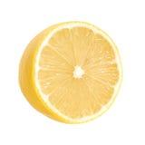 查出的柠檬白色 免版税库存照片