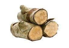 查出的栈木头 免版税图库摄影