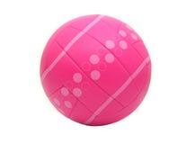 查出的桃红色排球 免版税库存图片
