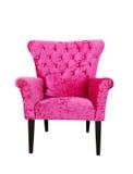 查出的桃红色沙发 免版税库存照片