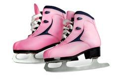 查出的桃红色s滑冰妇女 库存照片