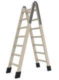 查出的梯子步骤白色 免版税库存图片