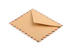 查出的棕色信包 关闭 免版税库存照片