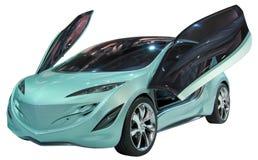 查出的概念小轿车 图库摄影