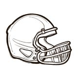 查出的橄榄球盔甲 书五颜六色的彩图例证 免版税库存图片